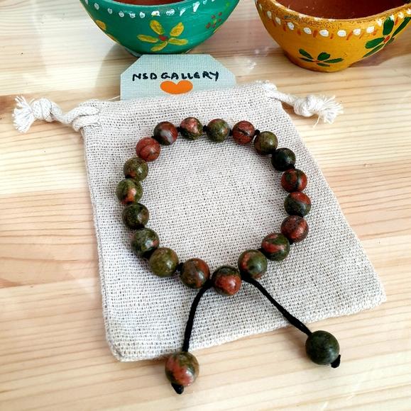 Adjustable gemstone healing bracelet - Picasso Jas